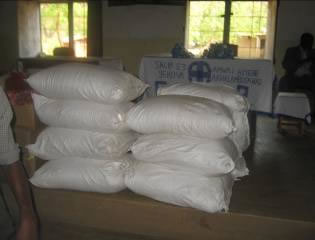 200 packets of soya flour 2kg each from the Evangelical Assemblies of God