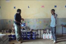 Michael at the Mitu school